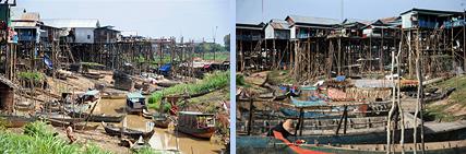 Tonle Sap stilt house village Kampong Phluk