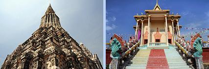 Oudong chedi and pagoda