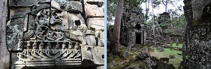Ta Nei north of jungletemple Ta Prohm in Angkor