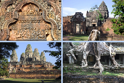 Banteay Srei, Banteay Samre, Pre Rup and Preah Khan cheap round tour