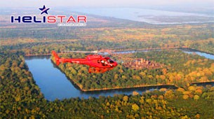 scenic helicopter flights in Angkor