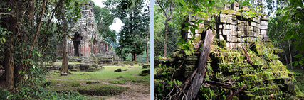 South-East Prasat Chrung and  Mangalartha temple (East Prasat Top) in  Angkor Thom