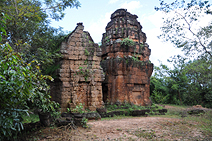 Prasat Tor with 2 Prasat towers and 1 Mandapa hall east of Angkor
