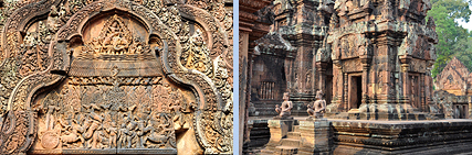 Banteay Srei fronton and tower