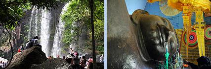 Phnom Kulen waterfall and Buddha