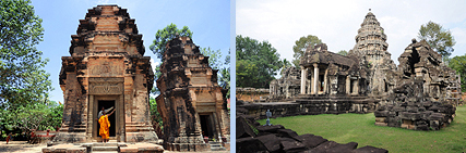 Preah Enkosei and Wat Athbea