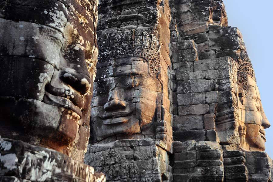 Bayon Buddhist face-towers