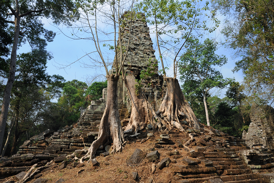 Preah Palilay temple tower