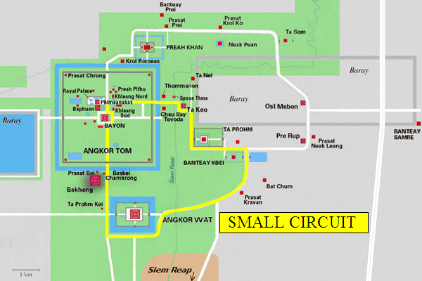 Angkor Map And Overview A Tourist Introduction
